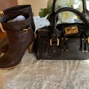 Chloé boots and bag authentic oure leather